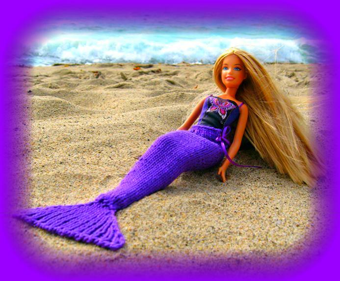 Как сделать хвост кукле русалки своими руками